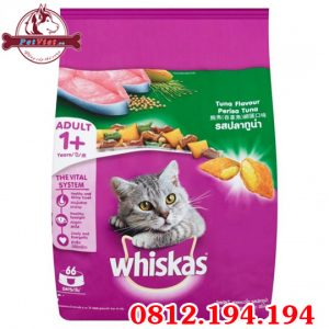 Whiskas Adult Tuna Flavour gói 1200g