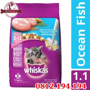 Whiskas Junior Ocean Fish Flavour gói 1100g